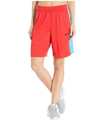 Nike Dry Shorts Essential (University Red/Light Current Blue/Black) Women