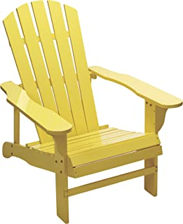Leigh Country Classic Yellow Painted Wood Adirondack Chair