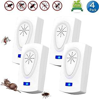 ZHENROG Antimosquitos,Repelente Ultrasonico,2020 Repelente Ultrasónico de Control de Plagas,Anti...