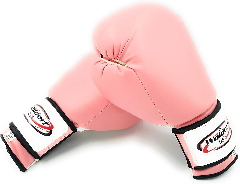 Woldorf USA Boxing Bag Gloves Pink Vinyl in OFFicial mail order 6oz Super sale