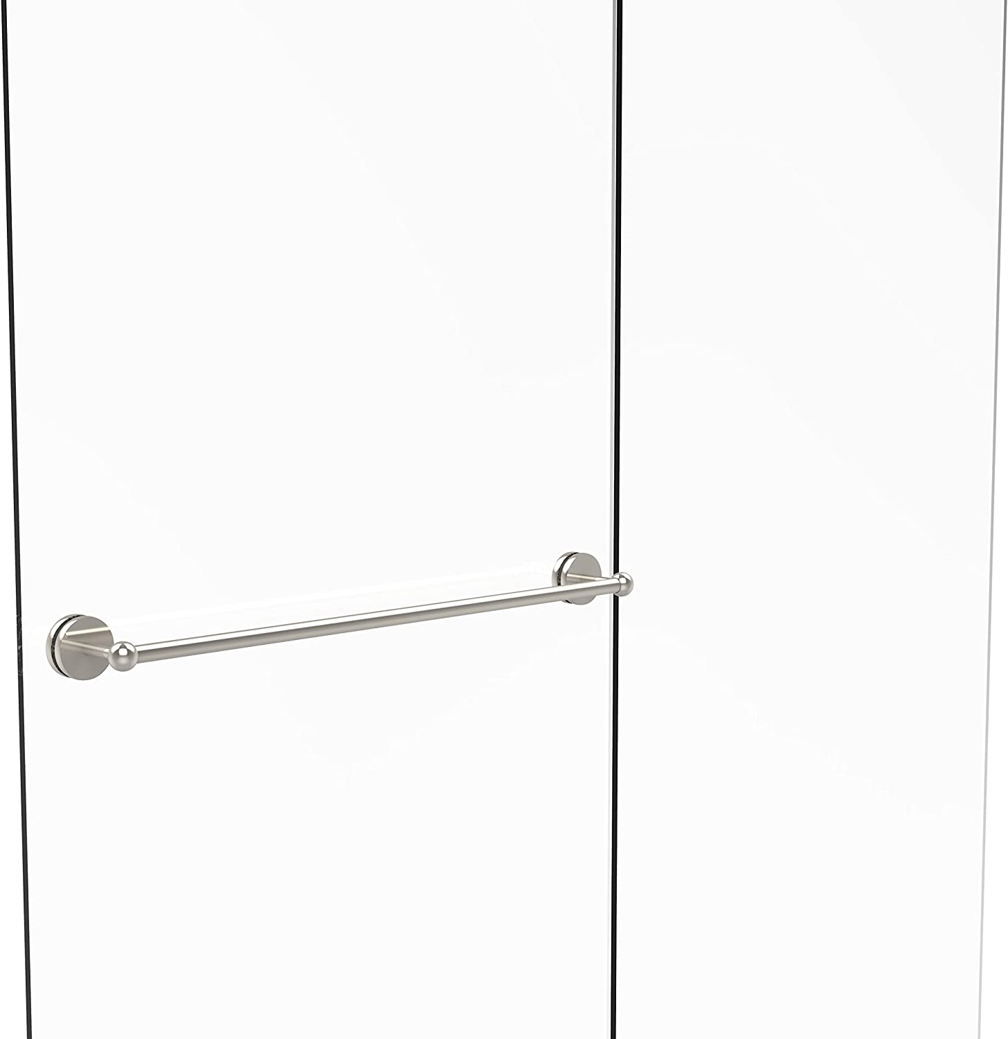 Allied Brass Prestige Skyline Collection 30 Inch Shower Door Towel Bar, P1000-41-SM-30-PNI