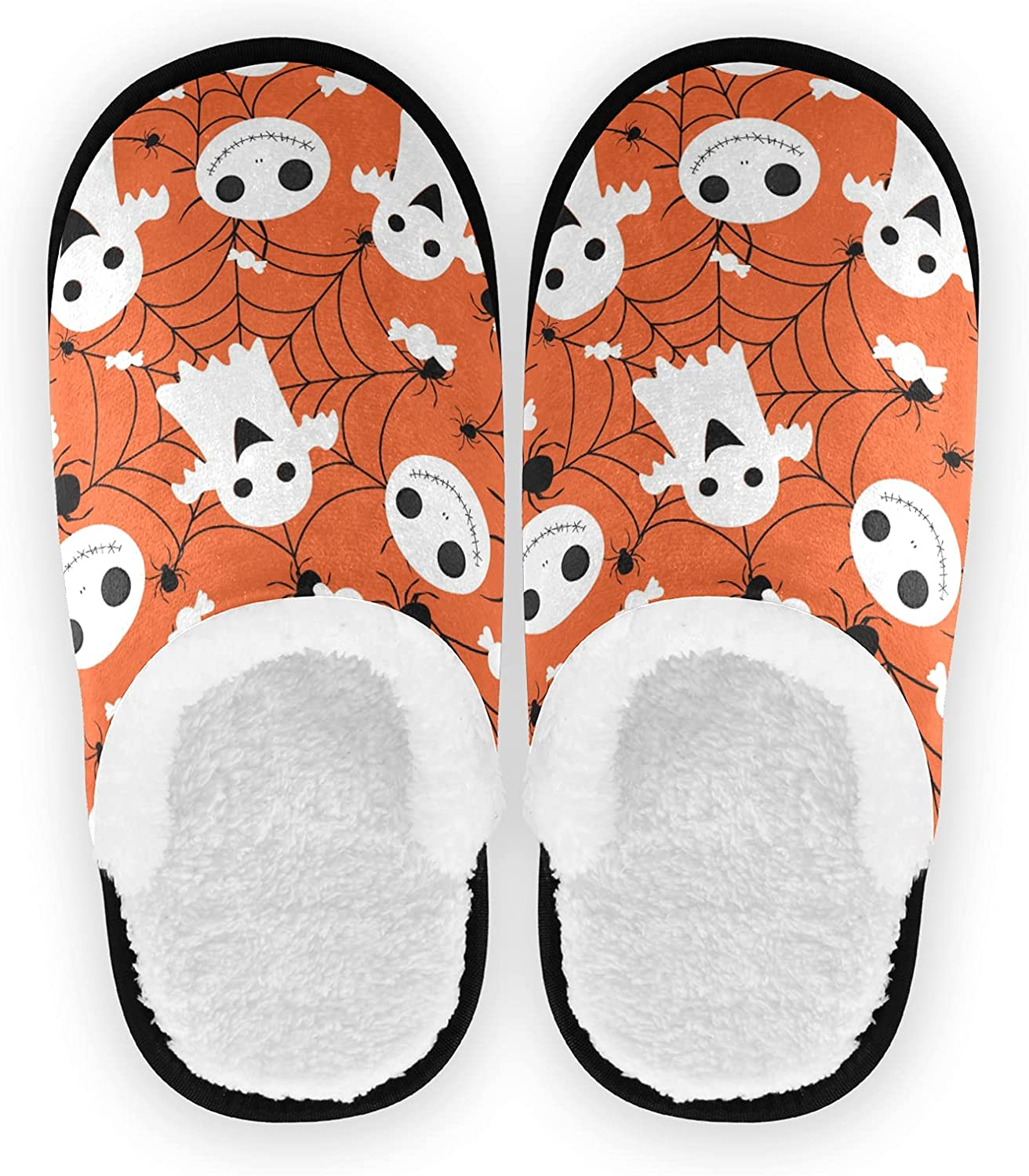 Halloween Cute Sales White Ghost Spa Slippers Popular product Candy Spider Bird Ho Web