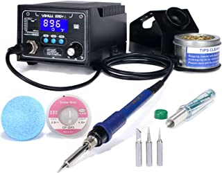 YIHUA 939D+ I Soldering Station, 75 Watt Equivalent, Updated with 3 Memories, C/F display, Sleep Mode, and more. Includes ...