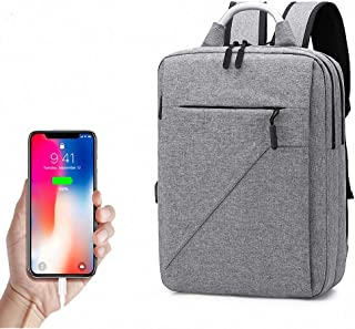 Laptop Backpack, Computer Rucksack, Business Laptop Backpack, with USB Charging Port, Water Resistant, for Work College School Outdoor
