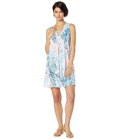 Lilly Pulitzer Amina Dress (Crew Blue Tint Kaleidoscope Coral) Women