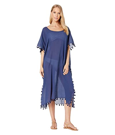 Seafolly Midi Amnesia Kaftan Cover Up (Blue Opal) Women