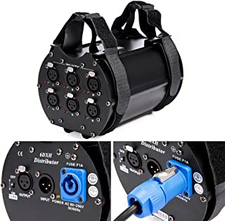 MFL. 6 Way Isolated DMX Splitter Amplifier Distributor with 3-Pin Outputs