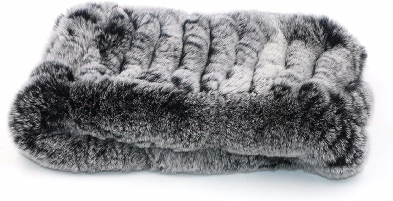 ERaBLe(TM) Women Winter Cold weather Rex Rabbit Fur Knitted Headbands 4 colors