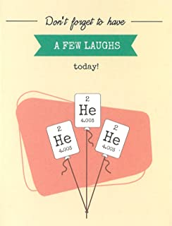 He He He (Helium) Periodic Table Element Science Birthday Card (4.25