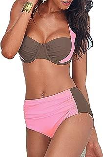 Noon-Sunshine Bikinis Women Swimsuit High Waisted Swim Halter Push up Plus Size Swimwear 4XL