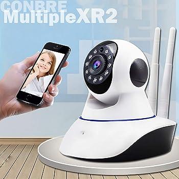 Conbre MultipleXR2 V380 Pro HD Smart Wireless CCTV Security Camera | Night Vision | 2-Way Audio | Support 64 GB Micro SD Card Slot