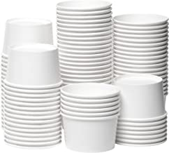 [12 oz, 100-Count, White] Papernain Paper Disposable Ice Cream Cups, Dessert Bowls