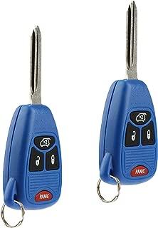 Key Fob Keyless Entry Remote fits Chrysler 200 300 300c PT Cruiser Sebring / Dodge Avenger Charger / Jeep Commander Grand Cherokee Liberty (Blue), Set of 2