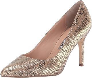 حذاء بكعب متوسط للنساء من تشارلز دايفد، فضي