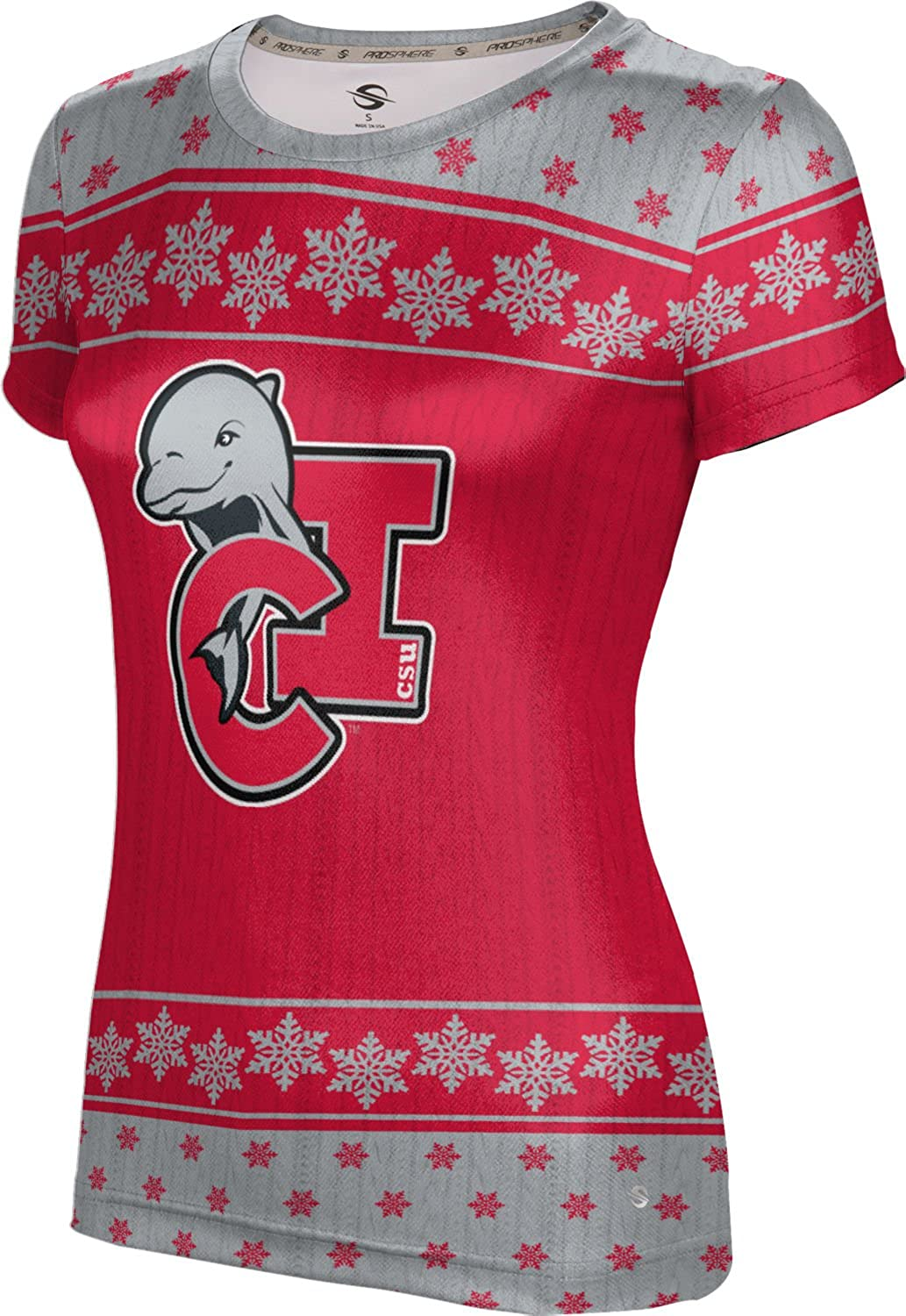 California State University Channel Islands Ugly Holiday Girls' Performance T-Shirt (Snowflake)