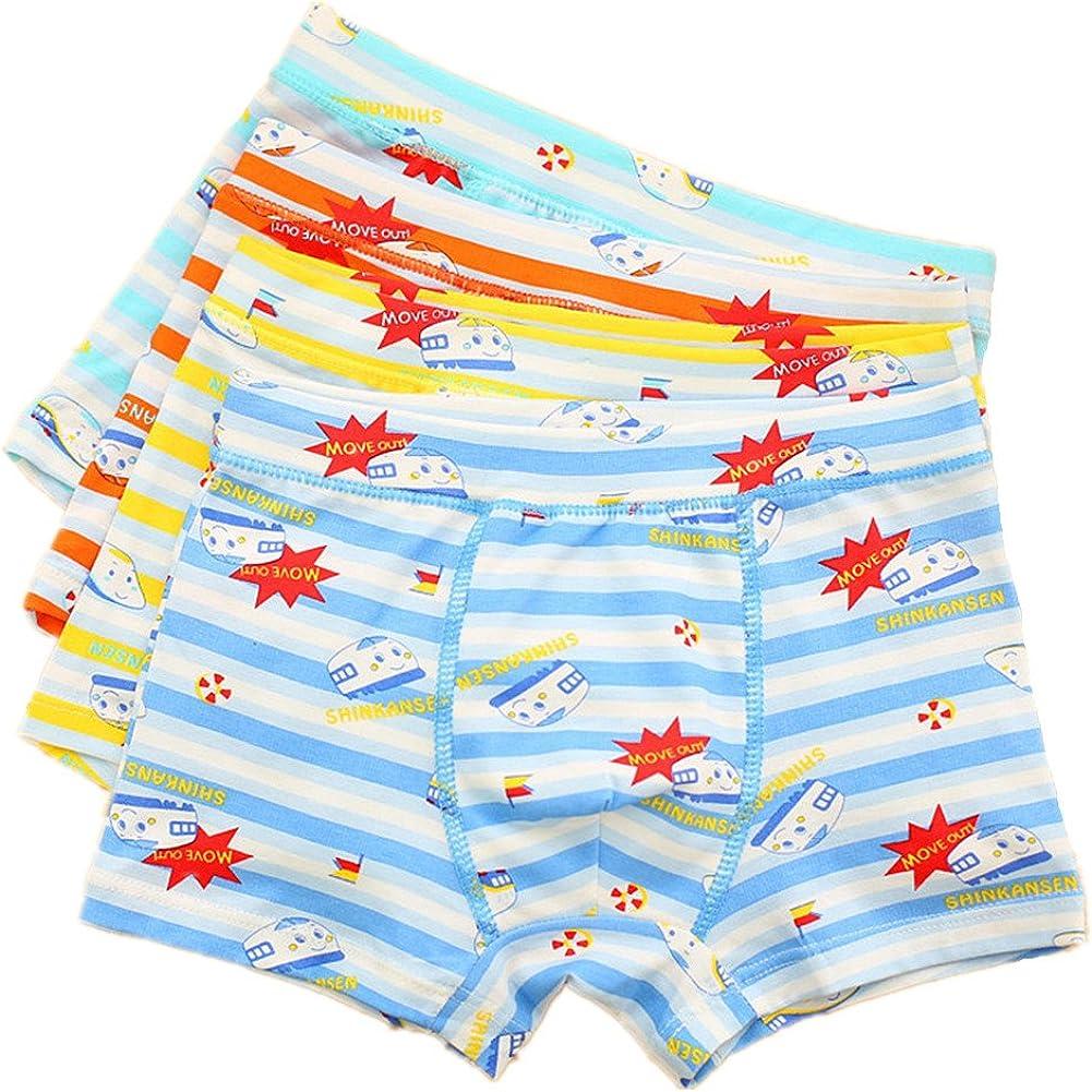 Boys Boxer Briefs Underwear, 4 Pack, Soft Cotton