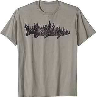 Musky Pine Forest Treeline - Outdoor Fishing Angler T-Shirt