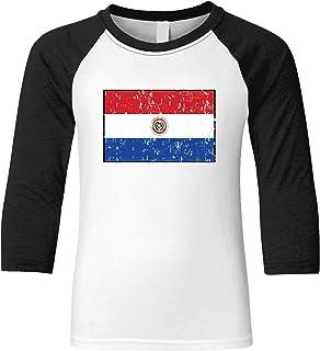 Amdesco Paraguay Flag Paraguayan Youth Raglan Shirt