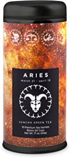 Aries Astrology Tea- Sencha Green: All-Natural, Antioxidant Rich, Increase Energy, Gluten Free, 24 servings …
