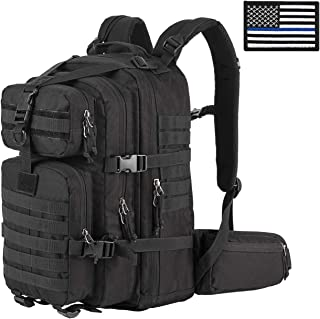 SHARKMOUTH Military Tactical Backpack 3 Day Small Assault Pack MOLLE Rucksack Survival Outdoor School Daypack for Camping Hiking Hunting Climbing Travel Trekking 33L