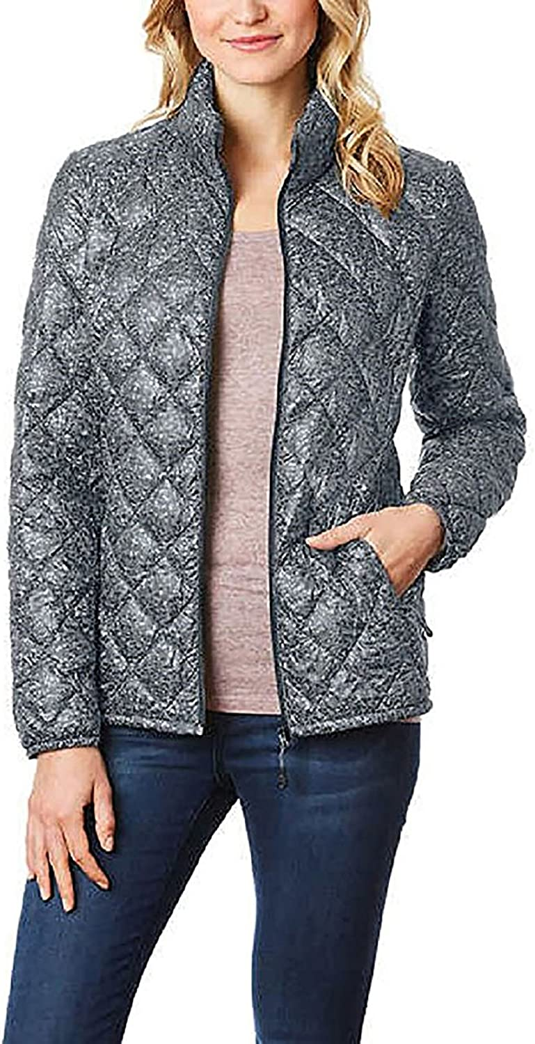 32 Degrees Heat Ladies' Packable Ultra Light Down Jacket, Cloud tweed  Large