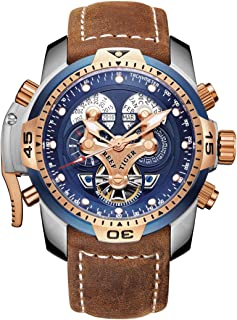 Military Watches for Men Stainless Steel Blue Dial Watch Sport Automatic Watches RGA3503