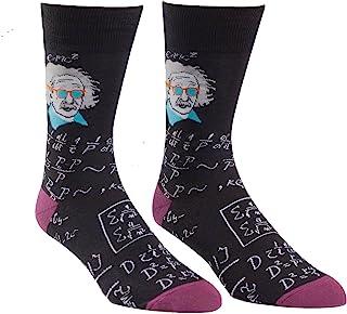 Sock It To Me, Einstein relativamente frío Calcetines tripulación para Hombres Talla 7-13 Negro