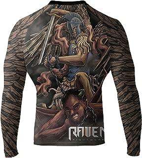 Raven Fightwear Men's Archangel MMA BJJ Rash Guard Black