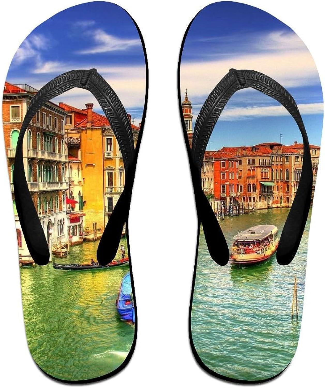 Italian Grand Canal Venice Unisex Fashion Beach Slipper Summer Flip Flop