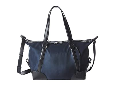 Salvatore Ferragamo The Gancini Nylon Weekender 24A132 (Navy/Black) Weekender/Overnight Luggage