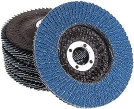 5 Inch Flap Disc High Density Zirconia Alumina Flat Flap Disc Sanding Grinding Wheel 20 Pack (Each 5 of 40 60 80 120 Grit,Blue)
