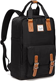 School Backpack for Men and Women,VASCHY Unisex Vintage Water Resistant Casual Daypack Laptop Backpack Rucksack Bookbag fo...