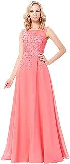 Best coral long dresses cheap Reviews