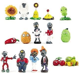Oliasports 16 X Plants vs Zombies Toys Series Game Role Figure Display Toy PVC Gargantuar Craze Dave Dr. Zomboss Action Figure