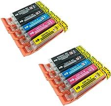PerfectPrint - 10 compatibles PGI-550 CLI-551 cartuchos de tinta para impresora de Canon Pixma MG5450 MG5550 MG6350 MG6450 MX725 MX925 IP7150 iP7250