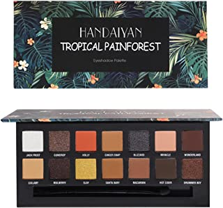 HANDAIYAN Tropical & Renaissance Eyeshadow Face Palette Pressed Pigmented Eyeshadow Powder Shimmer + Matte Makeup Palettes 14 Color 2018 New Festival Makeup Set (RENAISSANCE)