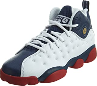 Jordan JUMPMAN TEAM II BG boys basketball-shoes 820273-146_4.5Y - White/Mid Navy-Gym Red-Metallic Gold