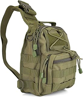 ProCase Tactical Sling Bag with Pistol Holster, Military Outdoor Range Backpack