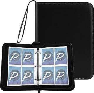 PAKESIスターカードカードファイル 4ポケット 50枚ページカードの内側 400枚収納 PU皮套カードシート と他のカードを集める スターカード コレクションファイル