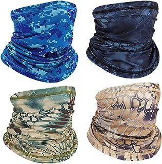 4PCS Face Mask Bandanas Neck Gaiter Headwear Magic Scarf Headband for Dust Sun Wind Multifunctional Head Wear for Cycling ...