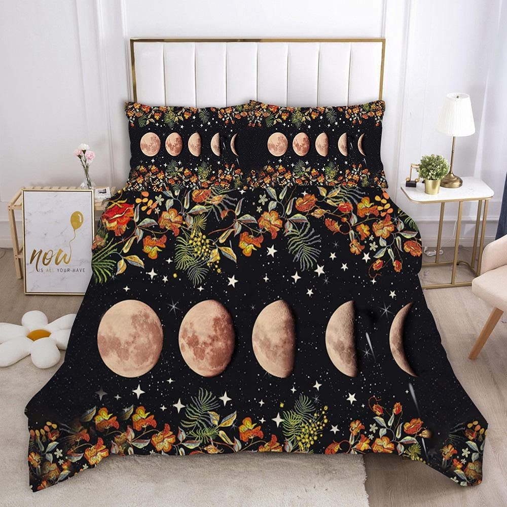 Duvet Nashville-Davidson Mall Cover Queen Size Gradient Soft Popular products Bedding Breathable Moon and