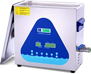 Professional Ultrasonic Cleaner-DK SONIC 6L 180W Sonic Cleaner with Heater and Basket for Metal Parts, Carburetor,Fuel Inj...