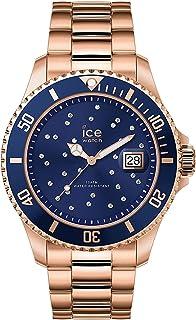 Ice Watch - Montre Rose Gold Cristaux de Swarovski Mixte Bracelet métal Ice Steel (016774)