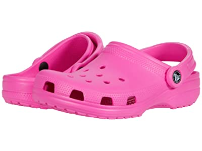 Crocs Kids Classic Clog (Toddler/Little Kid/Big Kid) (Electric Pink) Kids Shoes