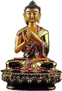 PPCP Exquisite Big Buddha Statue 20.5cm Gold Colored Plating Resin Quality Buddhist Tibetan Rulai Vairocana Statue Figure