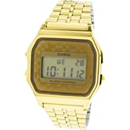 Casio #A159WGEA-9A Men's Vintage Gold Tone Chrongoraph Alarm LCD Digital Watch