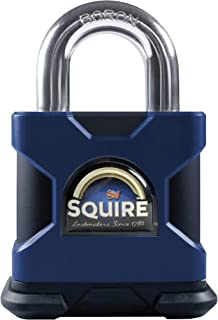 Squire Strong Hold 50mm. Ultra High Security Padlock. CEN 6 Certified. 6 Pin Tumbler Cylinder. Corrosion & Storm Proof. Made in Great Britain (SS50S - Open Shackle)