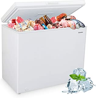 MOOSOO Chest Freezer, 9.0 Cu.Ft Large Capacity with Adjustable Thermostat&Removable Storage Basket, Energy Saving & Low No...