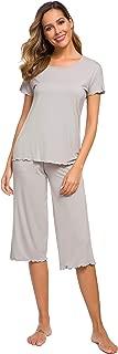 Short Sleeve Pajamas Bamboo Sleepwear Capri Pants Pj Set for Women S-4X