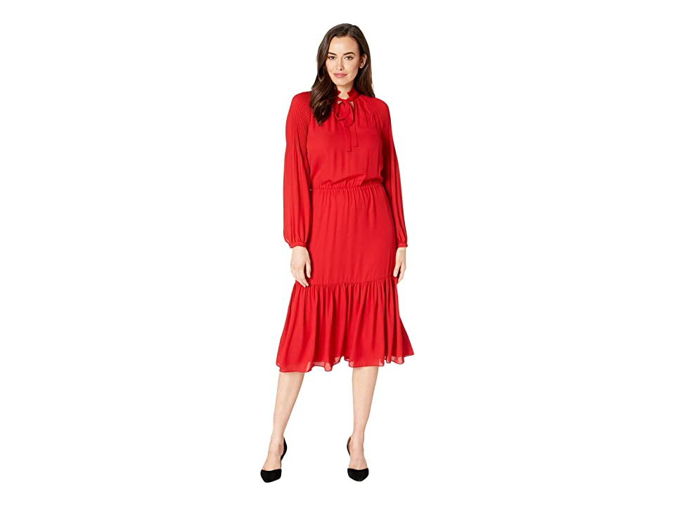 LAUREN Ralph Lauren Georgette Dress (Lacquer Red) Women